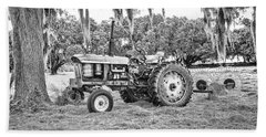 John Deere - Hay Rake Beach Towel by Scott Hansen