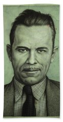 John Dillinger Beach Towel by James W Johnson