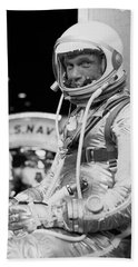 John Glenn Wearing A Space Suit Beach Towel