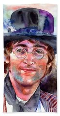 John Lennon Portrait Beach Towel