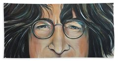 John Lennon Beach Towel