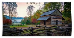 John Oliver Place In Cades Cove Beach Towel