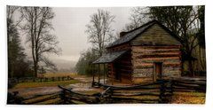 John Oliver's Cabin In Cades Cove Beach Towel