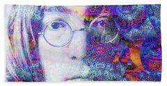 Beach Towel featuring the digital art John by Robert Orinski