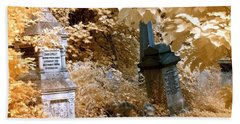 Autumnal Walk At Abney Park Cemetery Beach Towel by Helga Novelli