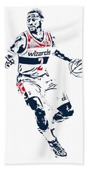 John Wall Washington Wizards Pixel Art 1 Beach Towel