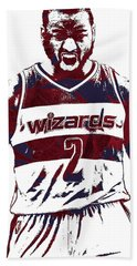 John Wall Washington Wizards Pixel Art 5 Beach Towel