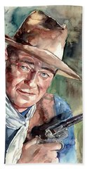 John Wayne Portrait Beach Towel