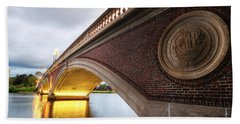 John Weeks Bridge Charles River Harvard Square Cambridge Ma Beach Towel
