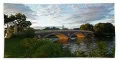 John Weeks Bridge In Harvard Square Cambridge Beach Towel