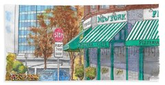 Johnnie's Pizzeria En Centrury City, California  Beach Sheet by Carlos G Groppa