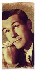 Johnny Carson, Vintage Entertainer Beach Towel