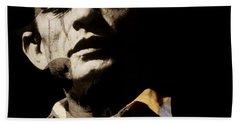 Johnny Cash - I Walk The Line  Beach Towel