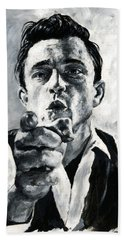 Johnny Cash II Beach Towel
