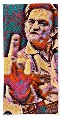 Johnny Cash Says Hello Beach Sheet