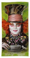 Johnny Depp As Mad Hatter Beach Towel