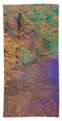 John's Pond In The Fall Beach Towel