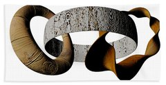 Beach Towel featuring the sculpture Join Circles by R Muirhead Art