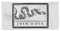 Join Or Die Beach Sheet by War Is Hell Store