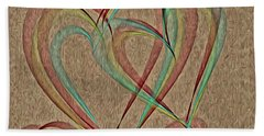 Joined At The Heart Beach Towel