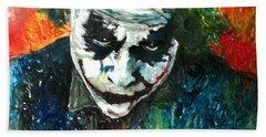 Joker - Heath Ledger Beach Towel