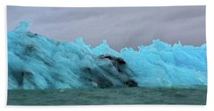 Jokulsarlon Blue Ice Glacier Beach Towel
