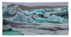 Jokulsarlon Glacier Lagoon Natural Beauties  Beach Towel