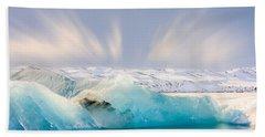 Jokulsarlon Glacier Lagoon Beach Towel