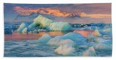 Jokulsarlon Glacier Lake, Iceland Beach Towel