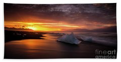 Jokulsarlon Sunrays Sunrise Beach Ice Beach Sheet