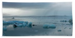 Beach Towel featuring the photograph Jokulsarlon, The Glacier Lagoon, Iceland 1 by Dubi Roman
