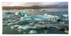 Jokulsarlon The Magnificent Glacier Lagoon, Iceland Beach Sheet