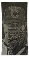 Jon Lester Portrait Beach Towel