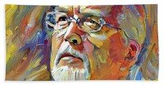 Jon Lord Deep Purple Portrait 2 Beach Sheet
