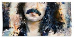 Jon Lord Deep Purple Portrait 6 Beach Sheet