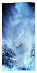 Jon Snow And Ghost - Game Of Thrones Beach Towel by Lilia D