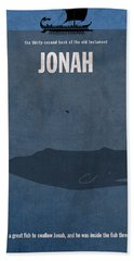 Jonah Books Of The Bible Series Old Testament Minimal Poster Art Number 32 Beach Towel