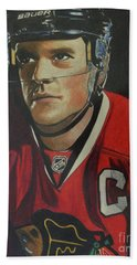Jonathan Toews Portrait Beach Sheet