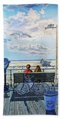 Jones Beach Boardwalk Towel Version Beach Sheet