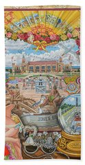 Jones Beach Love Story Beach Towel