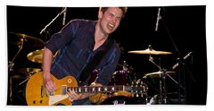 Jonny Lang Rocks His 1958 Les Paul Gibson Guitar Beach Towel