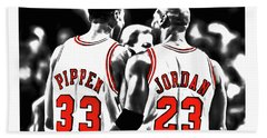 Jordan And Pippen 23c Beach Towel