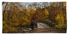 Jordan Park Bridge Beach Sheet by Judy Johnson
