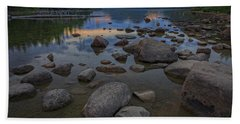 Jordan Pond Afterglow Beach Towel