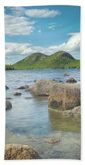 Jordan Pond And The Bubbles Beach Sheet by Brian Caldwell
