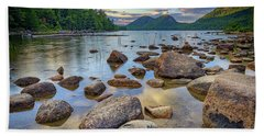 Jordan Pond And The Bubbles Beach Towel by Rick Berk