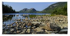 Beach Towel featuring the photograph Jordan Pond No.1 by Mark Myhaver