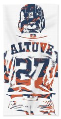 Jose Altuve Houston Astros Pixel Art 10 Beach Towel