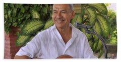Beach Sheet featuring the photograph Jose Luis Cobo by Jim Walls PhotoArtist