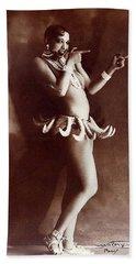 Josephine Baker Lucien Walery   Banana Skirt From The Folies Bergere Production Un Vent De Folie Beach Towel